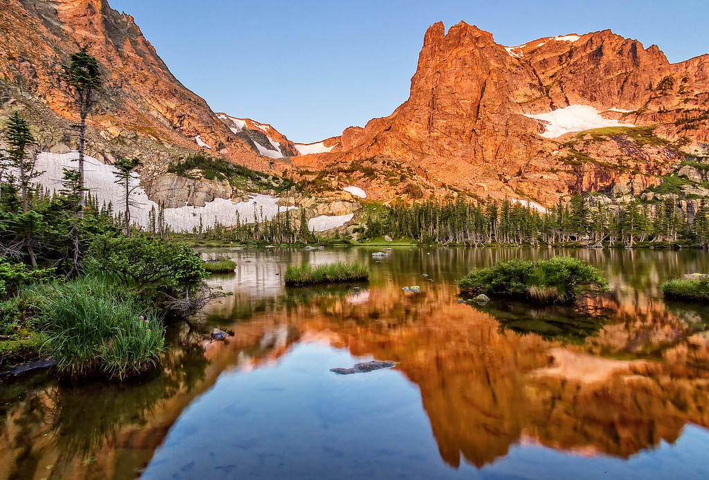 Sunrise at Lake Helene (Rocky Mountain National Park)