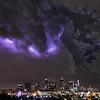 Denver<br /> <br /> Lightning over Skyline at night