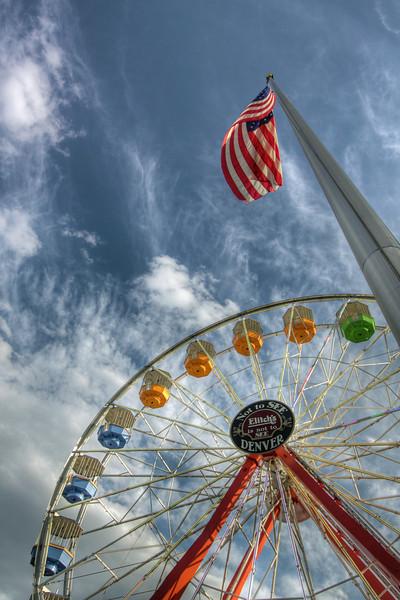 Denver<br /> <br /> Elitch Gardens Ferris Wheel during the day.