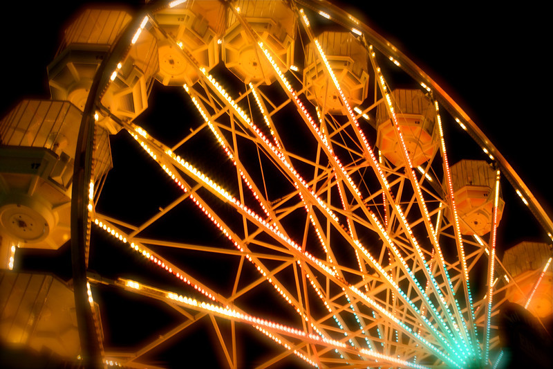 Denver<br /> <br /> Elitch Gardens Ferris Wheel Pre-LED conversion.
