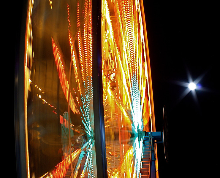 Denver<br /> <br /> Ferris Wheel and Moon at Elitch Gardens.