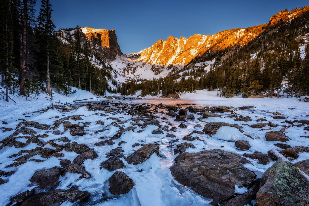 Dream Lake at Sunrise (Rocky Mountain National Park)