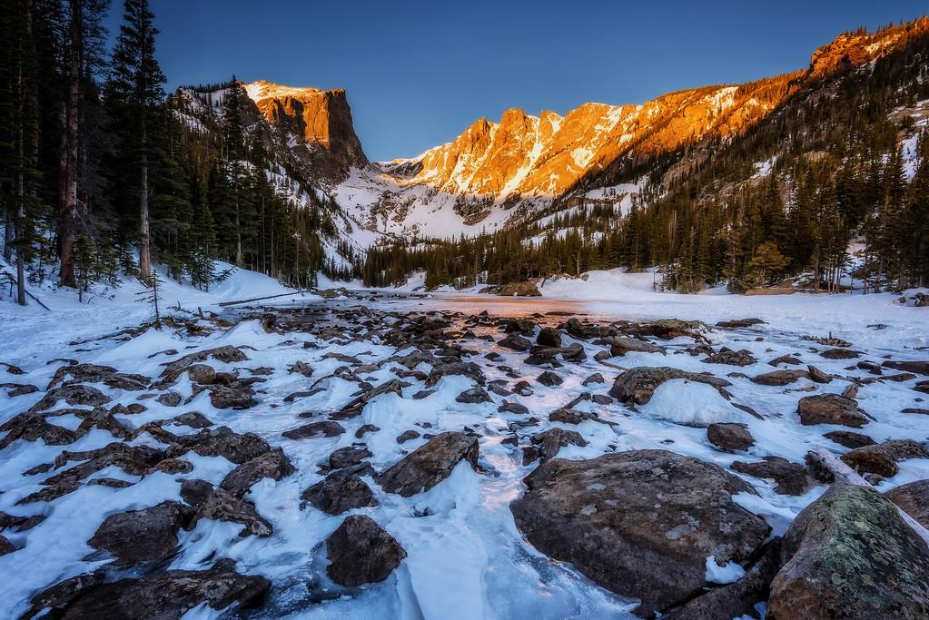 Dream Lake at Sunrise (Rocky Mountain National Park)