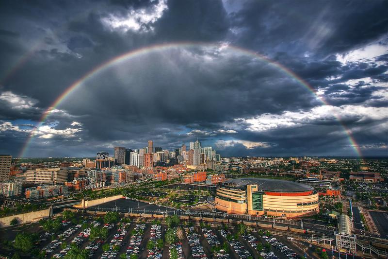 Denver<br /> <br /> Double Rainbow over Skyline.