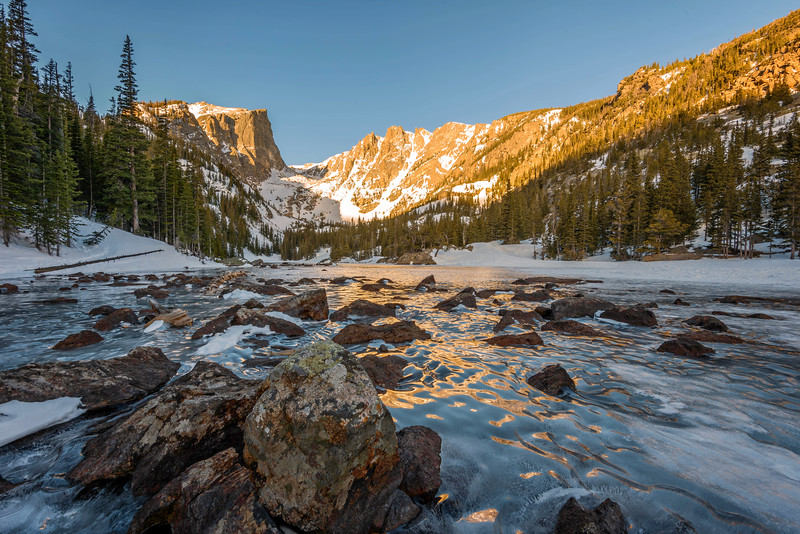 Dream Lake in the dead of Winter (Rocky Mountain National Park)