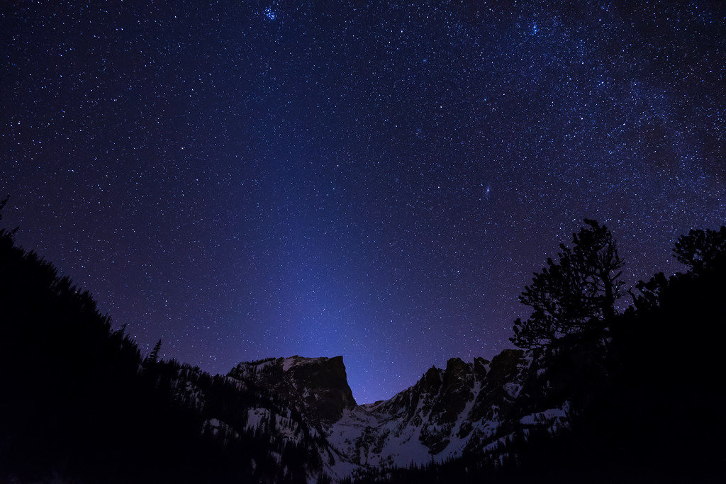 Starry Night over Dream Lake (Rocky Mountain National Park)