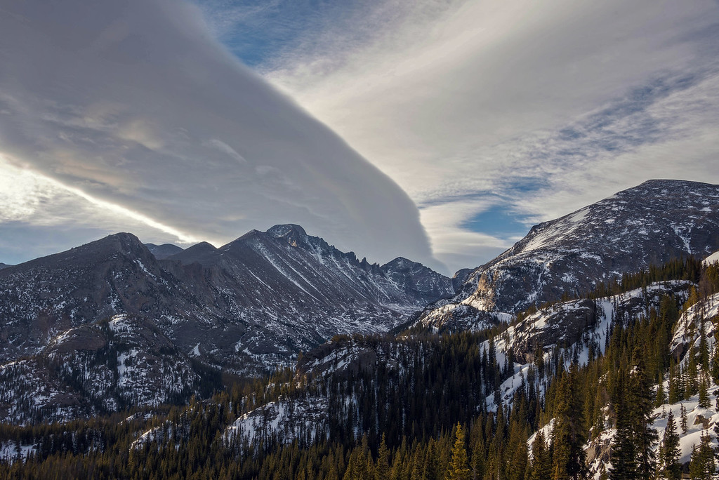 Clouds over Long's Peak (Rocky Mountain National Park)