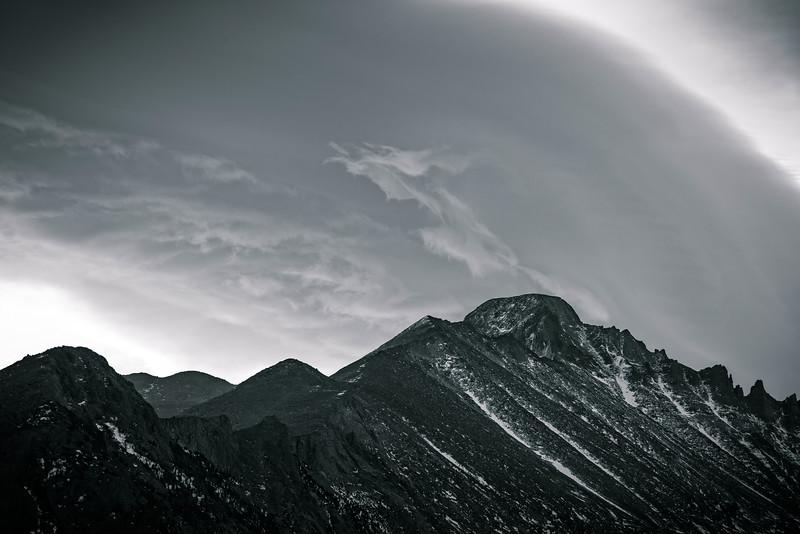 Long's Peak under a Lenticular Cloud (Rocky Mountain National Park)
