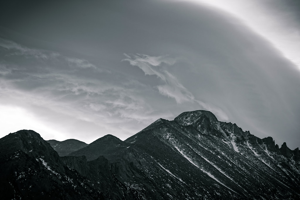 Long's Peak under a Lenticular Cloud (Rocky Mountain National Park)