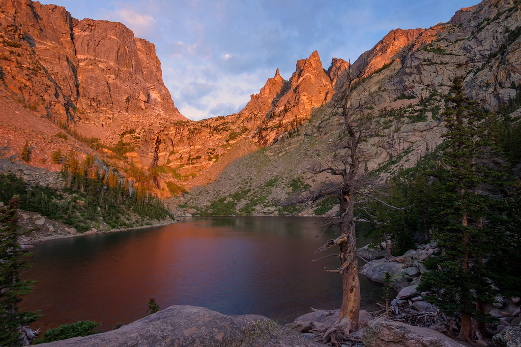 First Light at Emerald Lake (Rocky Mountain National Park)