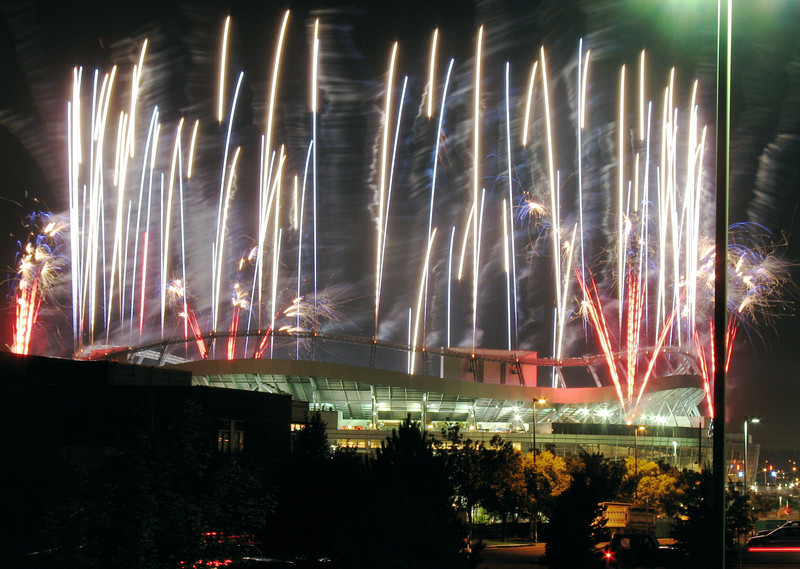 Denver<br /> <br /> Fireworks at Invesco Field for Obama's Convention Acceptance Speech.