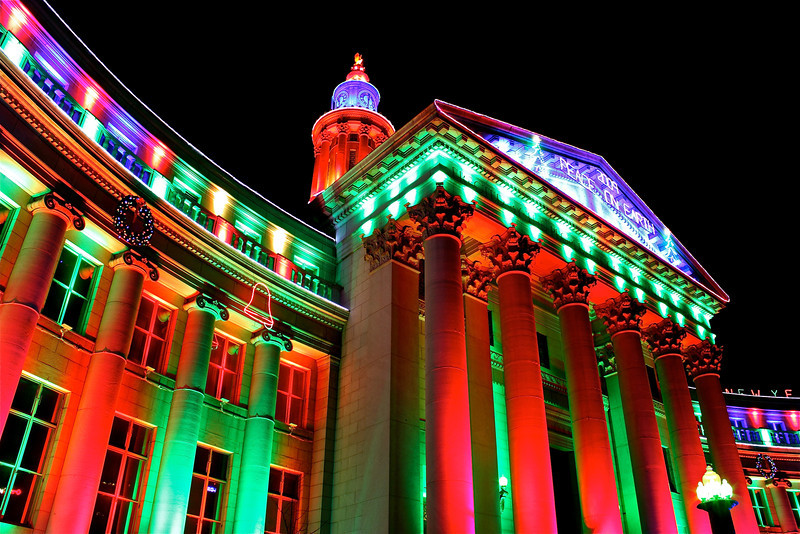 Denver<br /> <br /> City County Building during Christmas