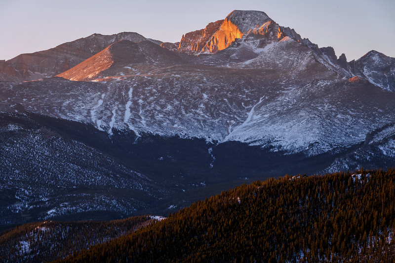 Sunrise on Long's Peak (Rocky Mountain National Park)