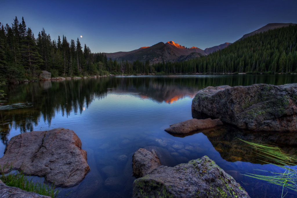 Last Light on Long's Peak (Rocky Mountain National Park)
