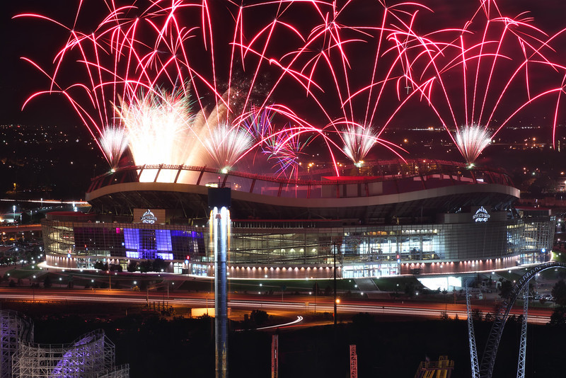 Denver<br /> <br /> July fireworks at Sports Authority at Mile High Stadium... (Invesco at the time of the picture)