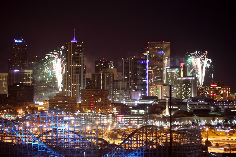 Denver<br /> <br /> New Year's Eve Fireworks over Denver's skyline