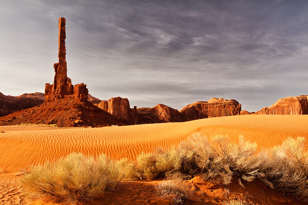Totem Pole in Monument Valley Arizona