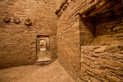 Interior Room and Doorway - Chaco Canyon National Historic Park - New Mexico