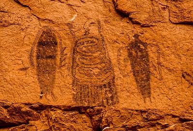 Intestine Man  Pictograph - Utah