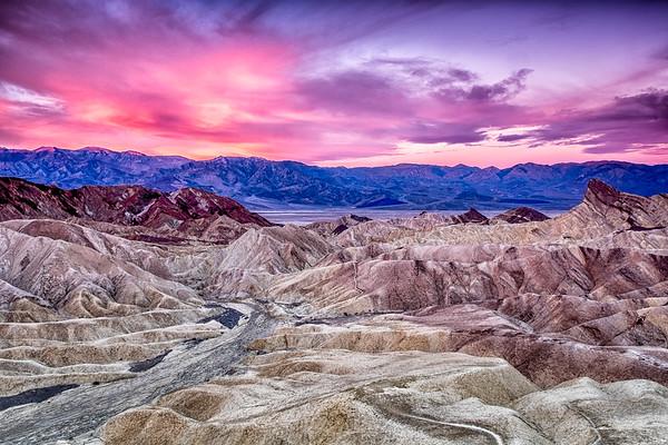 Sunrise at Zabriskie Point in Death Valley National Park, California