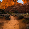 Sunset at Skyline Arch - Arches National Park - Utah