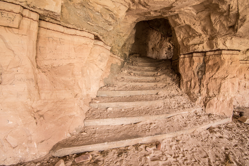 Sandstone Staircase In Abandoned Modern Cliff Dwelling - Utah