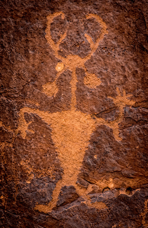 Moab Man Petroglyph Portrait - Utah