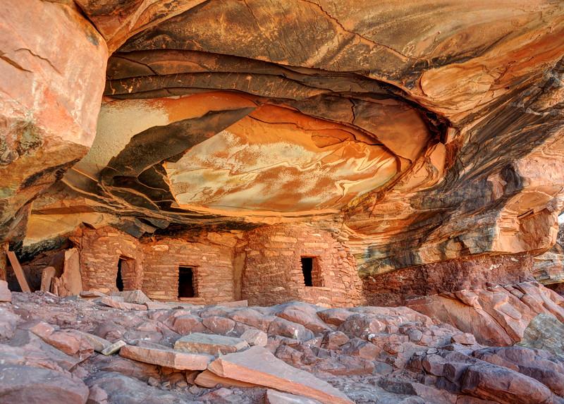 Fallen Roof Anasazi Ruins -  Cedar Mesa - Utah