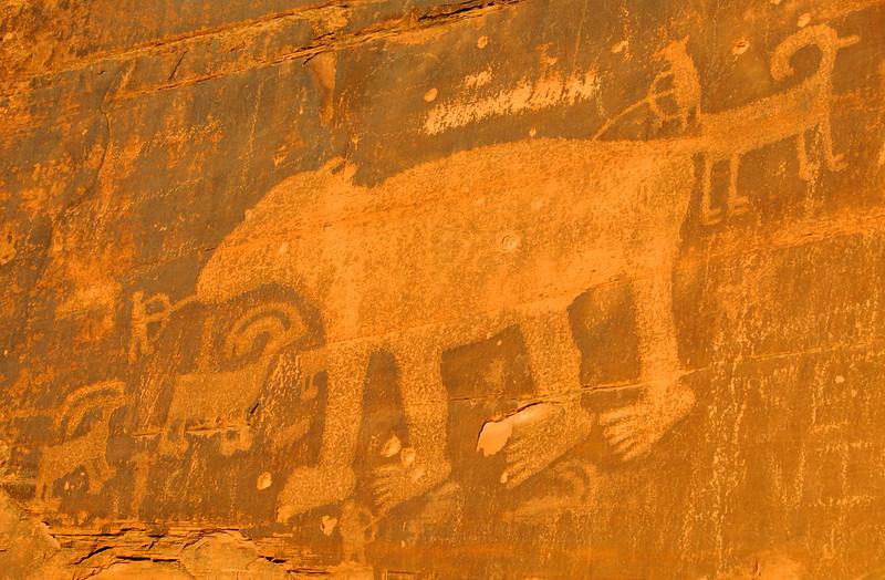 Ancient Indian Petroglyph - Moab - Utah
