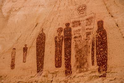 Horseshoe Canyon Great Gallery Panel- Canyonlands National Park - Utah