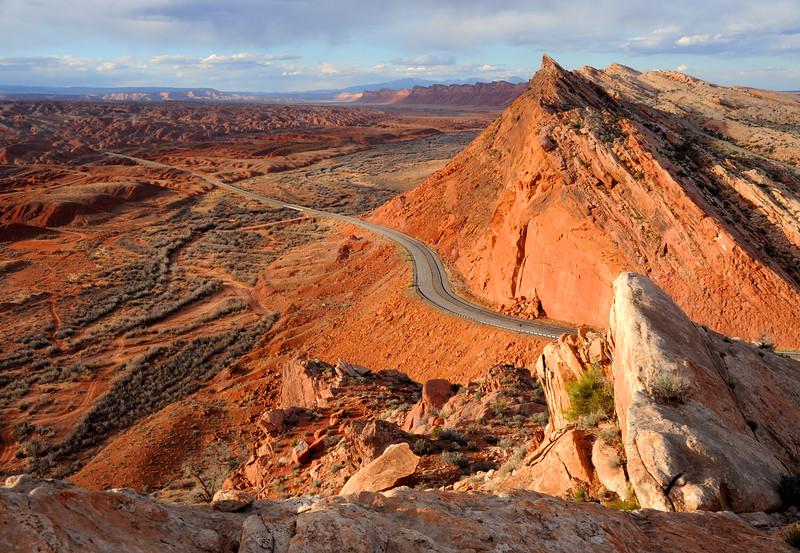 Comb Ridge At Sunset - Bluff - Utah