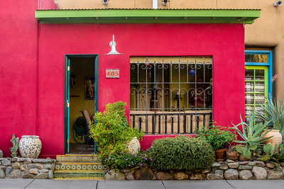 Painted Historic Doorway and Building - Barrio Historico - Tucson, Arizona