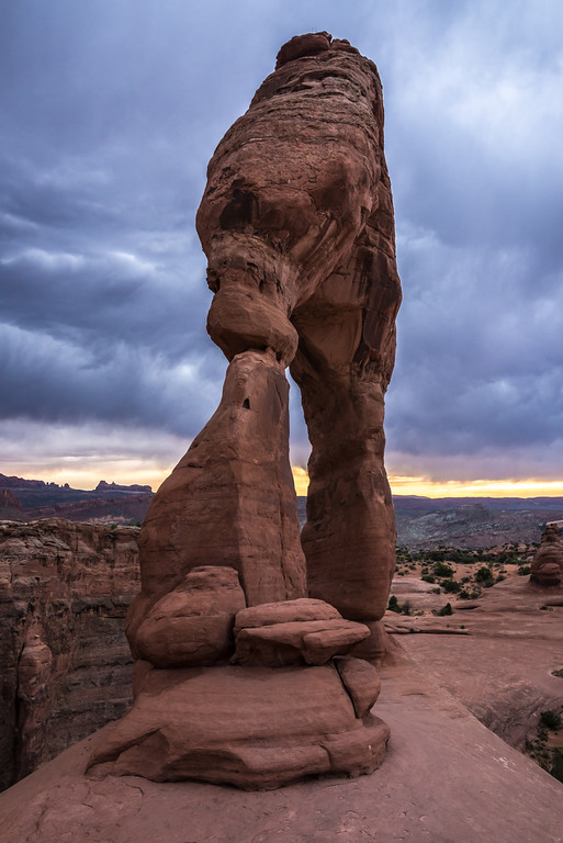 Stormy Sunset - Delicate Arch - Moab - Utah
