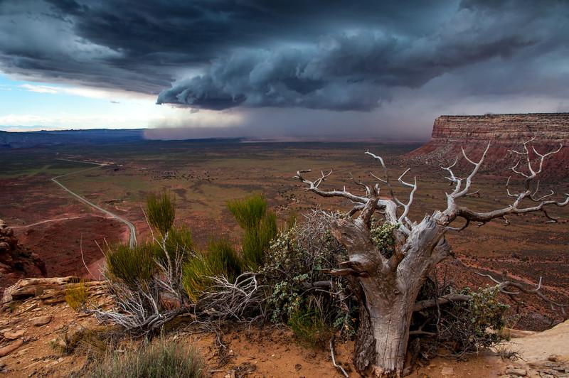 Moki Dugway Thunderstorm - Southern Utah