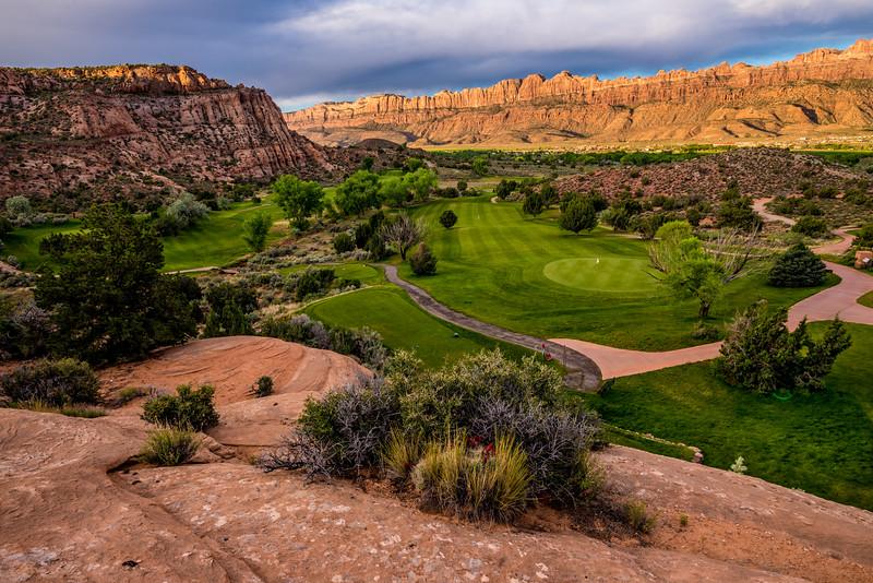 Moab Desert Canyon Golf Course at Sunrise - Utah