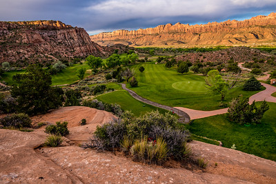 Moab Desert Canyon Golf Course at Sunrise - Utah