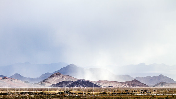 Sand storm in Death Valley