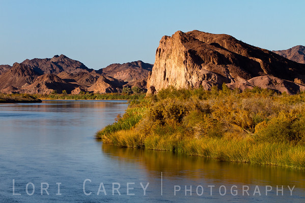 The lower Colorado River along Indian Pass in the Picacho State Recreation Area, California