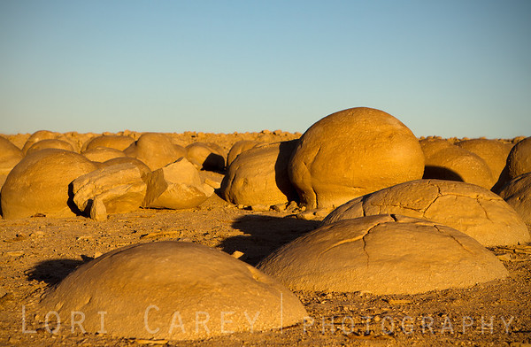 Stone concretions at the Pumpkin Patch in Ocotillo Wells near Anza-Borrego Desert State Park, California