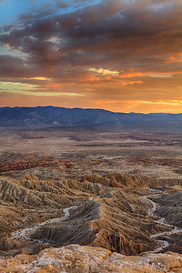 Badlands Sunset at Font's Point, Anza-Borrego Desert State Park