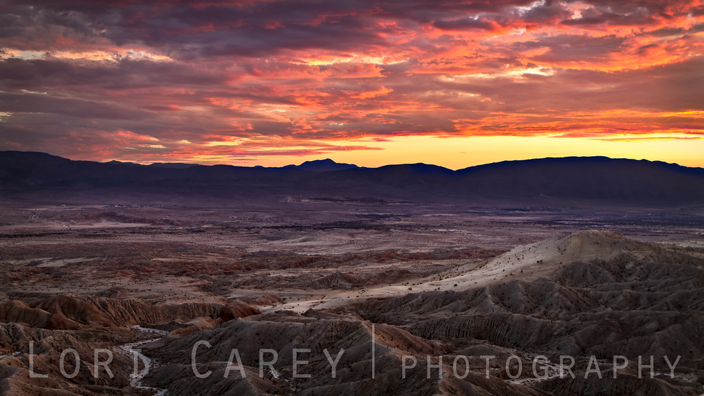 Borrego Badlands at Sunset<br /> Font's Point<br /> Anza-Borrego Desert State Park