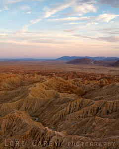 The Borrego Badlands viewed from Font's Point, Anza-Borrego Desert State Park