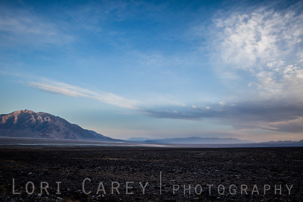 A storm blows in at sunset in Death Valley National Park