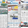Stages of the Princeton Daily Clarion redesign from 2014-2015.