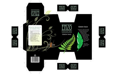 Tea Company Packaging and tea bag labels - Print Layout