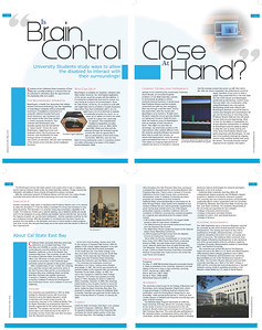 Editorial Layout 4 page magazine layout (2 2-page spreads) Adobe Photoshop, Illustrator, and InDesign