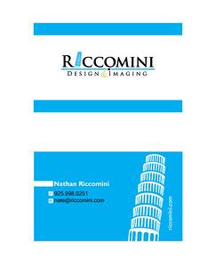 Business Card Design - Personal 2 -Sided, 3 color Adobe Ilustrator - Logo Design Adobe InDesign - Layout / Text