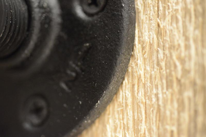 Iron on Wood Detail
