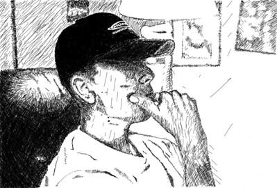 Portrait (hand cross-hatching) Adobe Photoshop