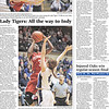 Newspaper section page design.